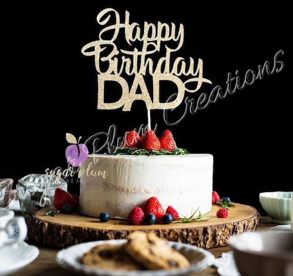 Amazing Happy Birthday Dad Cake Topper Happy Birthday Cake Topper Etsy Funny Birthday Cards Online Bapapcheapnameinfo