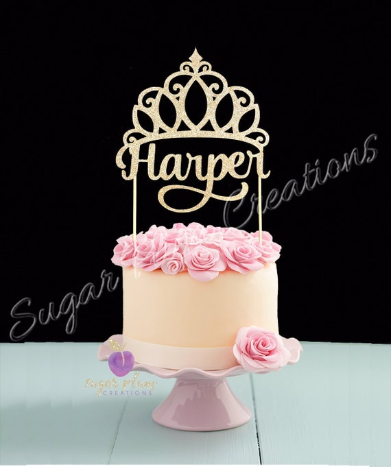 Jeder Name Prinzessin Kuchen Topper Etsy