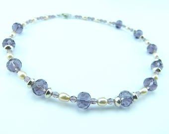Purple Peach Necklace
