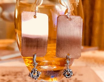 Fun dangly copper drop earrings!