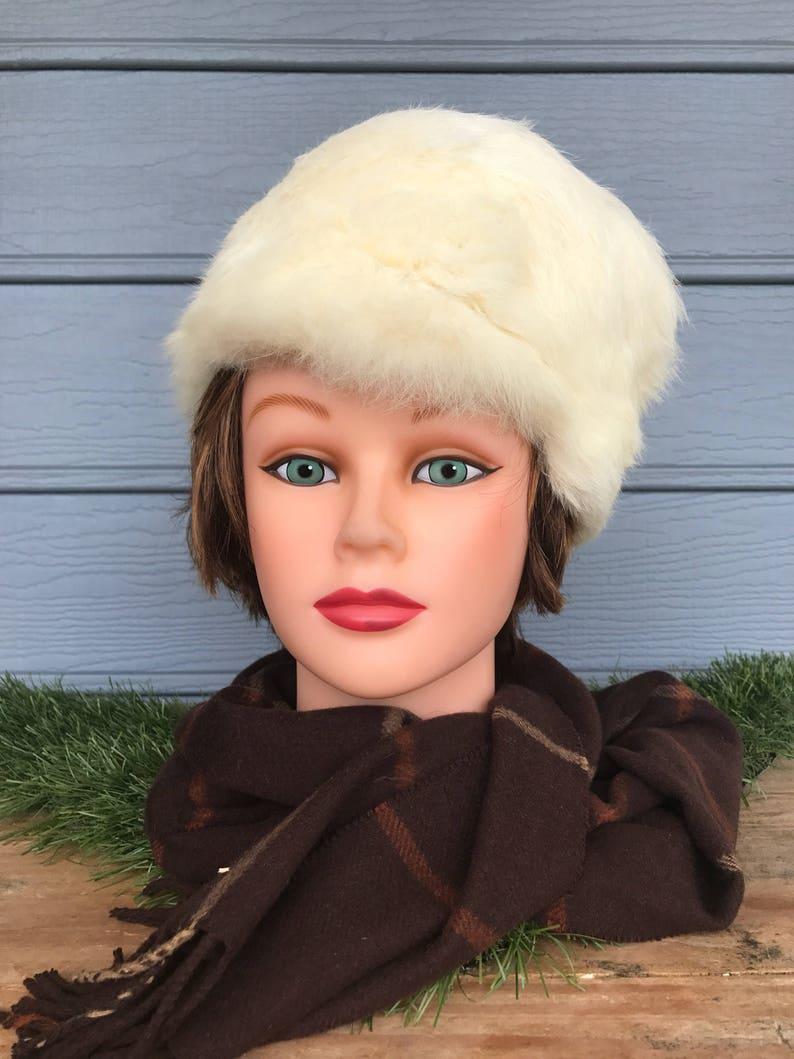 82b0c1b544dead Fur Womens Hat Formal Fur Hat White Fur Hat Pillbox Hat | Etsy