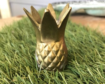 Small Brass Pineapple Candlestick Holder