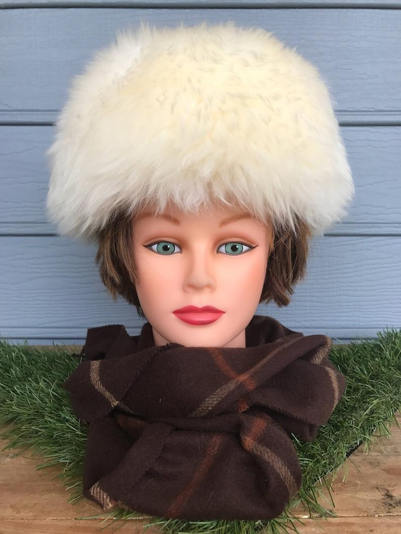 351ecbf99cf8a3 Mid Century Fur Hat Vintage Lamp Fur Hat Fur Cossock | Etsy