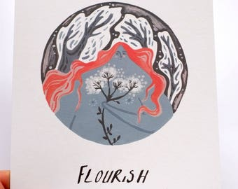 Florish- A5 Illustration Print