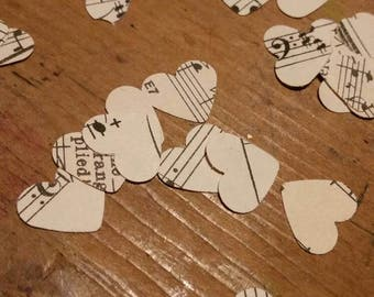 Sheet music confetti - wedding, party, table decoration, decor, scrapbook, crafting - upcycled vintage