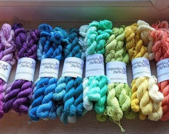 Hand dyed Colour Fade Sets (Blue - Black) in sock & DK weight yarn for knitting and crochet Rhapsodye Yarns