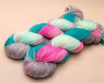 hand dyed yarn 'Say it First' Aran