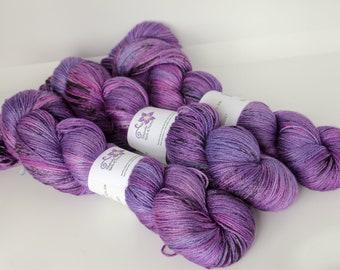 Hand dyed yarn 'I Said Maybe' sock / 4 ply weight MCN yarn for knitting and crochet Rhapsodye Yarns superwash merino / cashmere / nylon