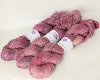Hand dyed yarn 'February Base Jump' sport weight Baby Camel / Silk yarn for knitting and crochet Rhapsodye Yarns