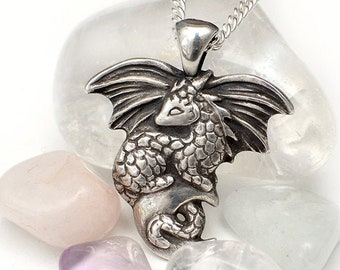 Moon dragon necklace
