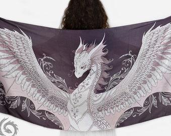 Phoenix dragon viscose scarf