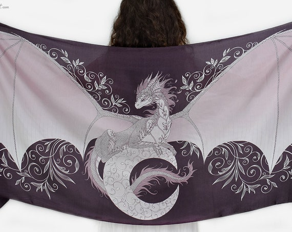 Moon dragon viscose scarf