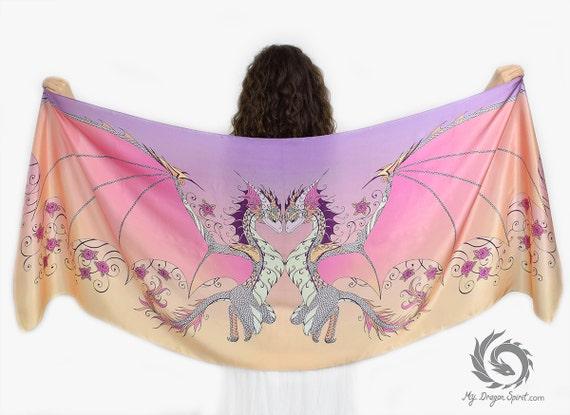 Sunset Love Dragons Scarf