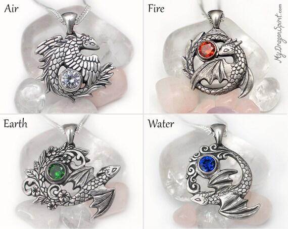 4 elements dragons set