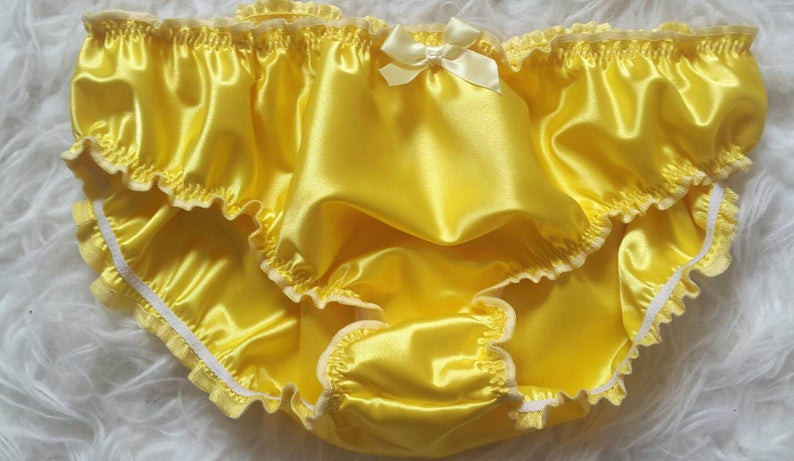 1e0e72e8b02d Made to OrderDouble layered Satin SISSY KNICKERS any size | Etsy