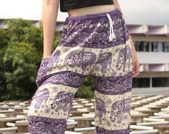 Unisex Hippie Clothes Unisex Elephant Clothes Unisex Harem Clothes Unisex Boho Clothes Unisex Bohemian Clothes Unisex Gypsy Clothes Purple