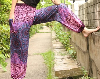Rose Purple pants /Womens pants /Womens Harem pants /Womens Boho pants /Womens Gypsy pants /Womens Hippie pants