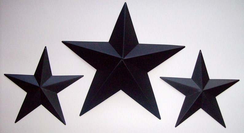 "5.5/"" Rustic White Americana Metal Barn Star Vintage Country Primitive Tin Decor"
