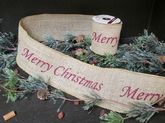 image 0 - Christmas Burlap Ribbon