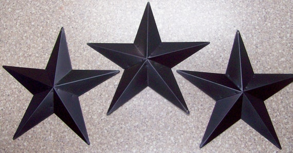"Set of 2 BURGUNDY BLACK BARN STARS 8/"" PRIMITIVE COUNTRY DECOR  FREE SHIPPING!"