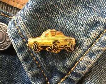 Vintage Truck Pin (stock# 966) silverado, f150, chevy, ford, lepel pin, hat pin, truck pin, 4x4,