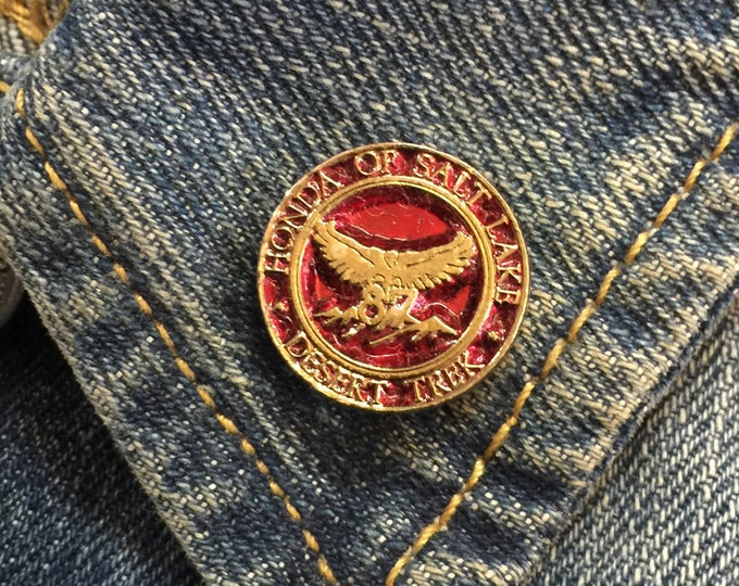 Vintage Honda Of Salt Lake (stock# 1020) hat pin, lapel pin, enamel pin, pinback, flair, vintage pin, Salt Lake City Utah, ride pin,