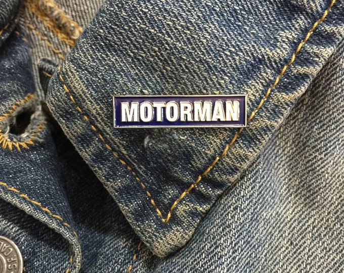 Vintage Motorman lapel pin (stock# 1015) hat pin, lapel pin, enamel pin, pinback, flair, vintage pin, gasoline culture