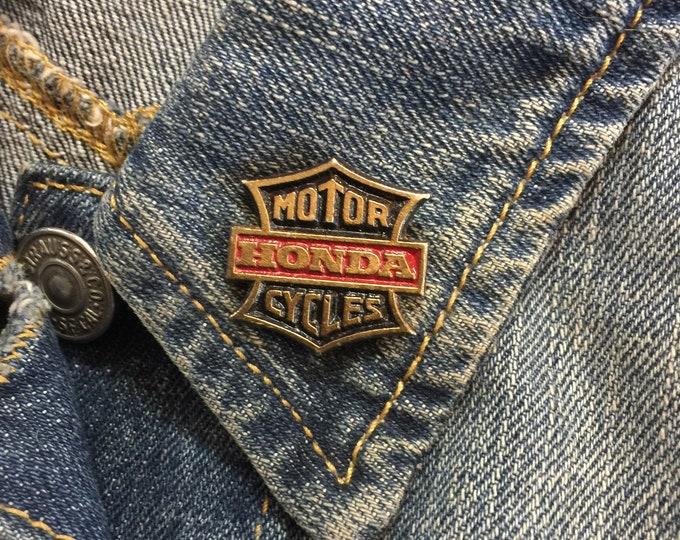 Vintage Honda Cycles Lapel Pins (stock# 1018) hat pin, lapel pin, enamel pin, pinback, flair, vintage pin, motorcycles,