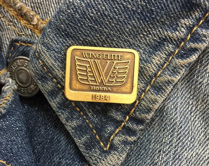 Vintage Honda Motorcycle Pin (stock# 1019) hat pin, lapel pin, enamel pin, pinback, flair, vintage pin, motorcycles, Honda MC