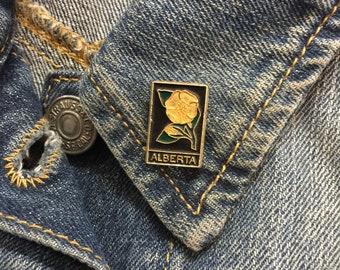 Vintage Alberta Travel Lapel Pin (stock# 1022) hat pin, lapel pin, enamel pin, pinback, flair, vintage pin, canada