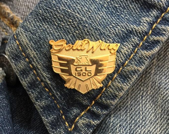 Vintage Honda Goldwing lapel pin (stock# 1026) hat pin, lapel pin, enamel pin, pinback, flair, vintage pin, honda motorcycles, moto,