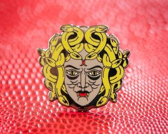 Medusa Enamel Lapel Pin