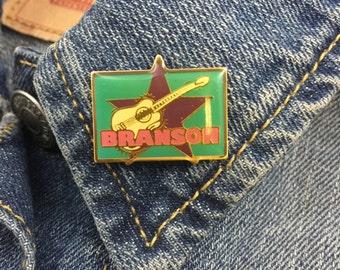 Vintage Branson Lapel pin hat pin brooch (stock# 400) hat pin, enamel pin, lapel pin, missouri, country, silver dollar city, lake of ozarks