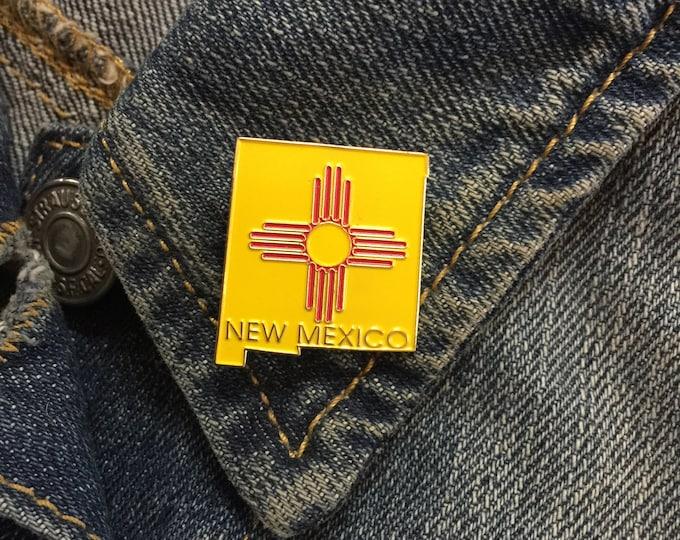 Vintage New Mexico enamel lapel pin (stock# 1021) hat pin, lapel pin, NM, state pin, southwest, flair