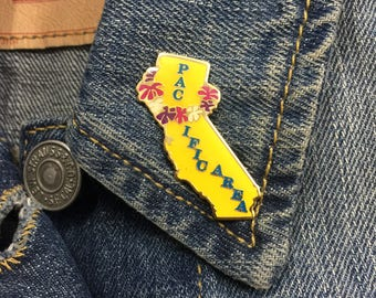 Pacific Area California Lapel Pin (stock# 887) hat pin, enamel pin, ocean, west coast,