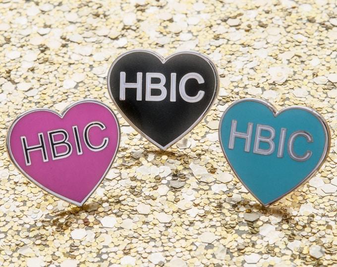 HBIC Heart - Hard enamel lapel pin/brooch