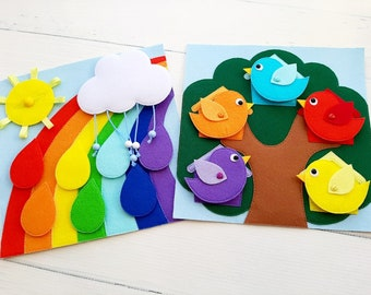 Quiet Book Pattern, Felt book Template,Quiet book page ideas,Gift for toddler