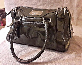 e34f84de946f Dolce and Gabbana women handbag faux leather italian bag shoulder bag dark  green glossy patent leather made in Italy collection moss green