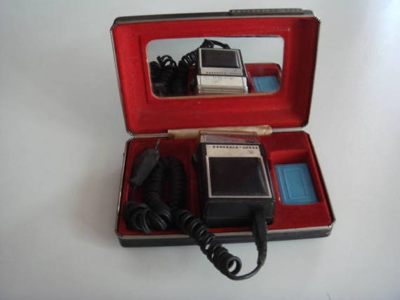 Working Vintage Rare Shaving Machine Original Storage Case Electric Shaver Shave Set Gift for Him Case Soviet Electric Shaver Vintage Him