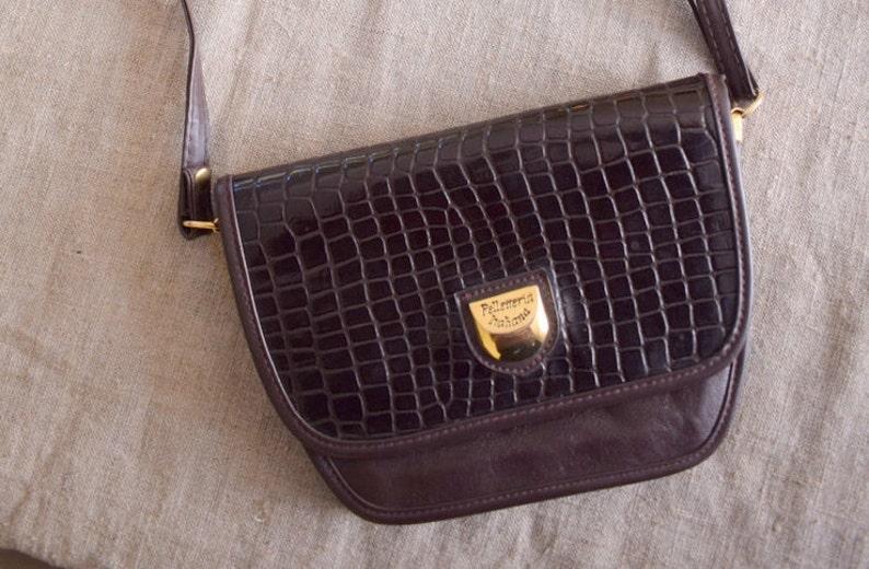 8a68cad655 Italian vegan leather crossbody Made in Italy bag moc croc