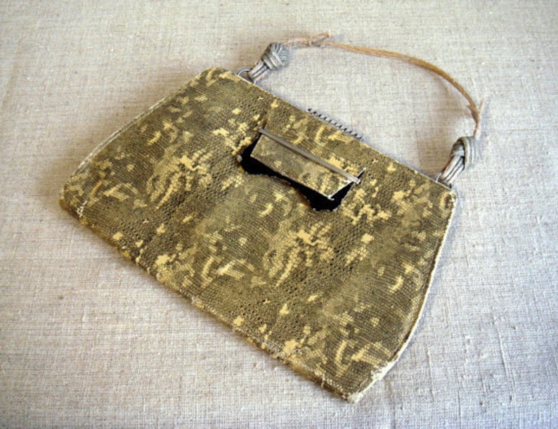 bc0077654224c Antike Schlange Haut Kunstleder Tasche Handtasche gelb schwarz