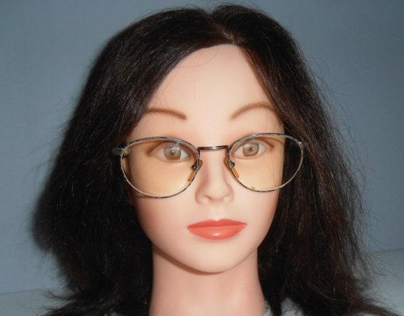 b928c6358e4 Vintage Italy italian round oval eyeglasses eyewear Ornamented