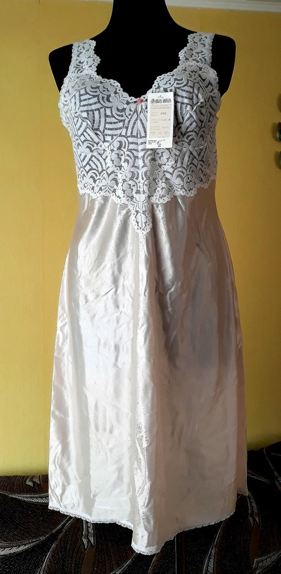 Vintage lace long slip dress nightgown Sexy light