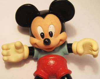 "Vintage Mickey Mouse Toy 8"" Vinyl Figure Disney Collectible"