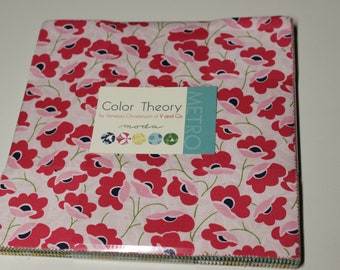 Color Theory by Vanessa Christenson of V and Co. for Moda-Layer Cake #10830LC