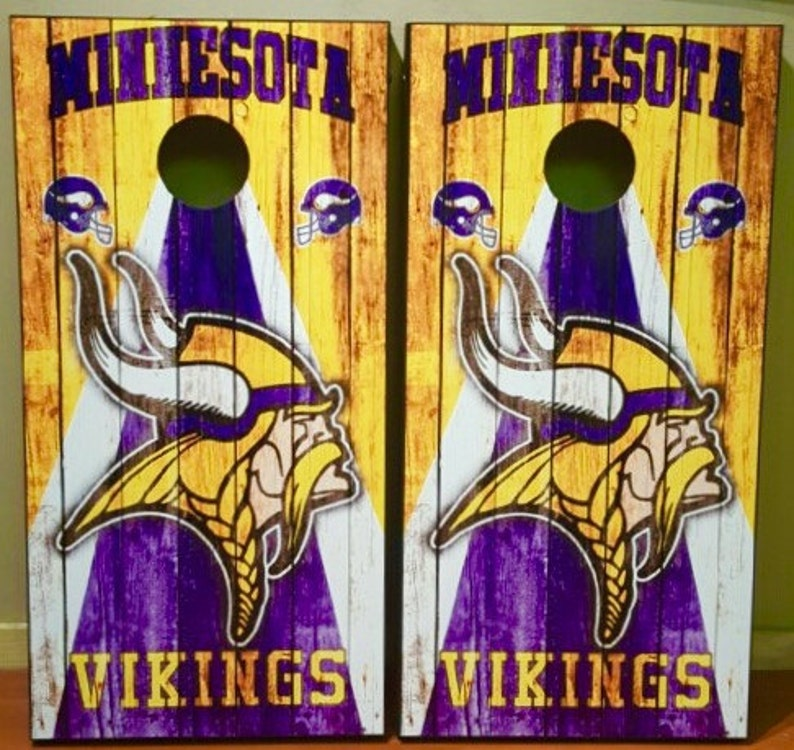 beanbag toss Decal Vikings cornhole wrap skin graphic