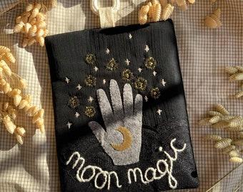 Moon magic textile moon wall hanging, artwork