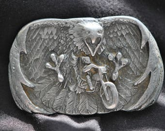 Arroyo Grande Buckle   Pewter  AG22  Eagle /  Cycle