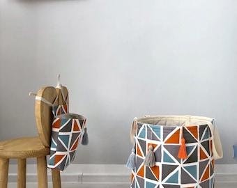 Personalized Storage- Big basket- Storage basket- Storage bin- Big basket- Toy storage- Fabric basket- Linen basket- Linen bin- Linen decor