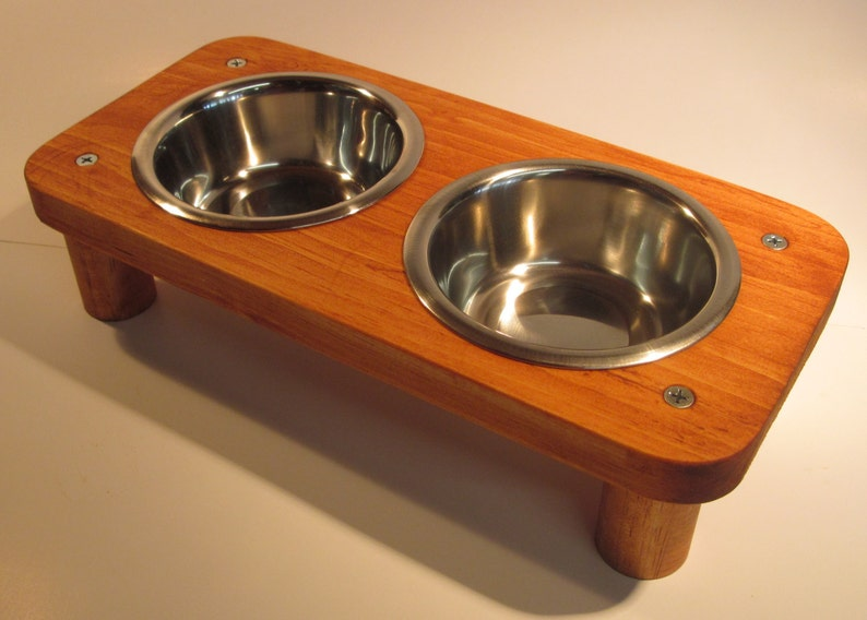 Cat or small dog 2 Bowl  1 cup  pet feeding stand image 0